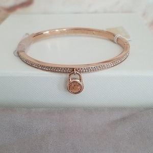 New Michael Kors Rose Gold Locket Charm Bracelet